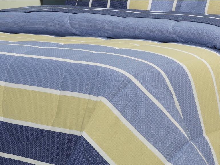 Jogo de Cama Solteiro 150 fios - Steve Navy - Dui Design