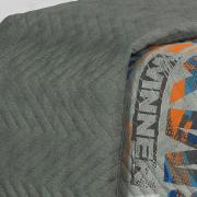 Kit: 1 Cobre-leito Casal Kids Bouti de Microfibra PatchWork Ultrasonic + 2 Porta-travesseiros - Street Grafite - Dui Design
