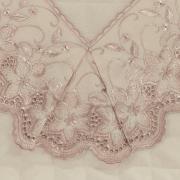 Kit: 1 Cobre-leito Solteiro + 1 porta-travesseiro Percal 200 fios com Bordado Inglês - Sublime Rosa Velho - Dui Design