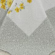 Kit: 1 Cobre-leito King Bouti de Microfibra Ultrasonic Estampada + 2 Porta-travesseiros - Suzana Amarelo - Dui Design