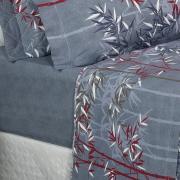 Jogo de Cama Solteiro Percal 180 fios - Suzuki Azul - Dui Design