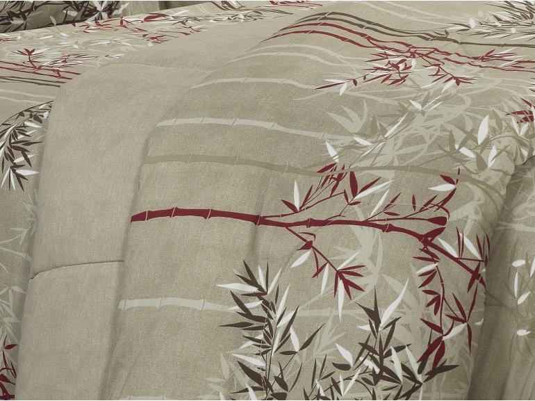 Jogo de Cama Solteiro Percal 180 fios - Suzuki Taupe - Dui Design