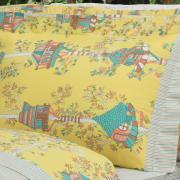 Jogo de Cama King 150 fios - Sweet Home Amarelo - Dui Design