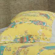 Enxoval Casal com Cobre-leito 7 peças 150 fios - Sweet Home Amarelo - Dui Design