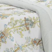 Edredom King 150 fios - Sweet Home Azul - Dui Design