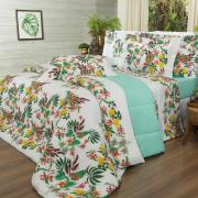 Edredom King Percal 180 fios - Taiti Tropical - Dui Design