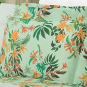 Jogo de Cama Casal Percal 180 fios - Taiti Verde - Dui Design