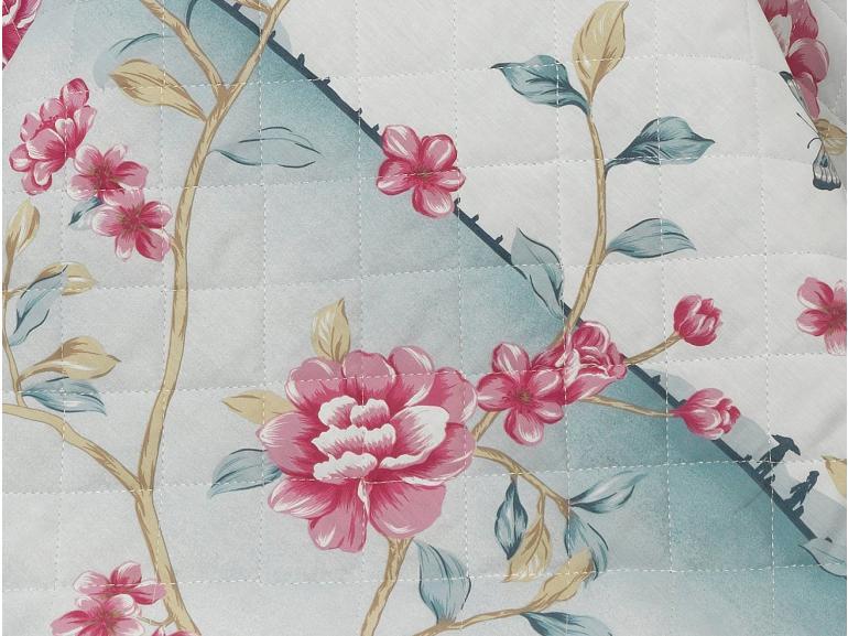 Enxoval Casal com Cobre-leito 7 peças Percal 180 fios - Takashi Azul - Dui Design