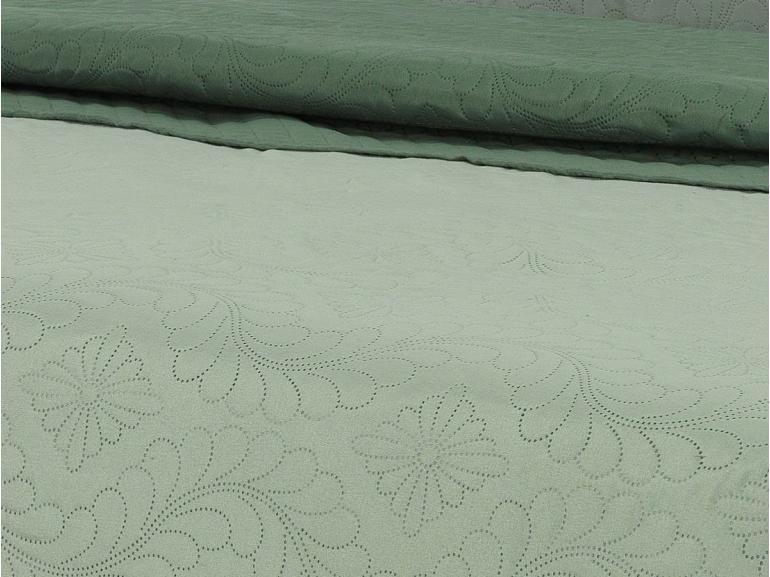 Kit: 1 Cobre-leito Casal Bouti de Microfibra Ultrasonic + 2 Porta-travesseiros - Talin Verde Confrei - Dui Design