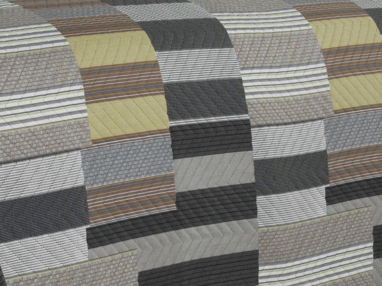 Kit: 1 Cobre-leito Casal Bouti de Microfibra Ultrasonic Estampada + 2 Porta-travesseiros - Tarso Stone - Dui Design