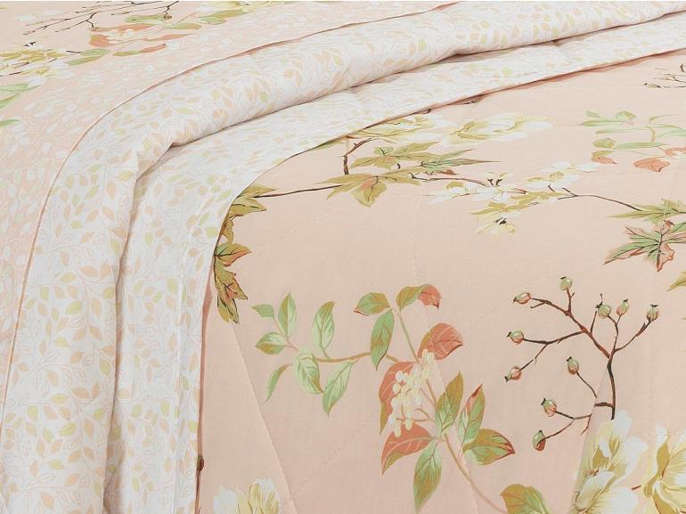 Kit: 1 Cobre-leito Solteiro + 1 Porta-travesseiro Percal 200 fios - Teodora Nude - Dui Design