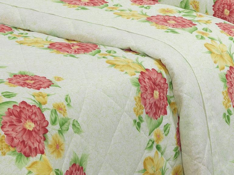 Kit: 1 Cobre-leito Solteiro + 1 Porta-travesseiro Percal 180 fios - Thalia Carmin - Dui Design