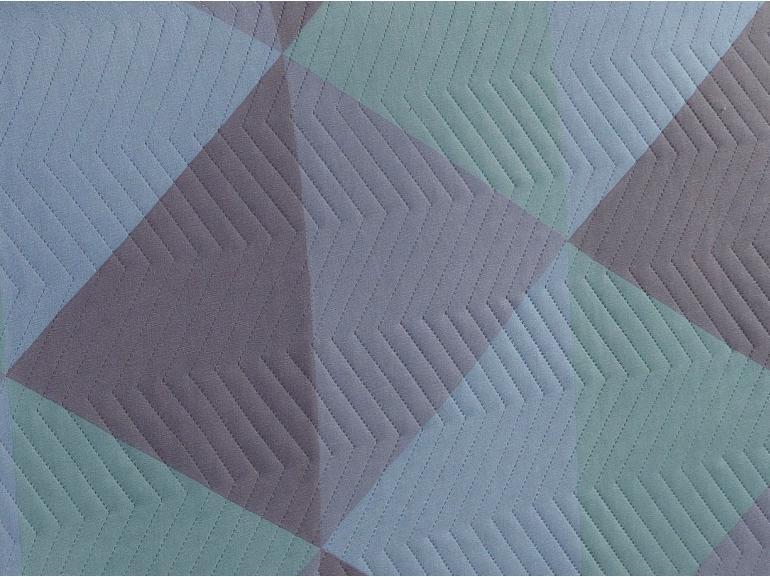 Kit: 1 Cobre-leito King Bouti de Microfibra Ultrasonic Estampada + 2 Porta-travesseiros - Titan Azul - Dui Design