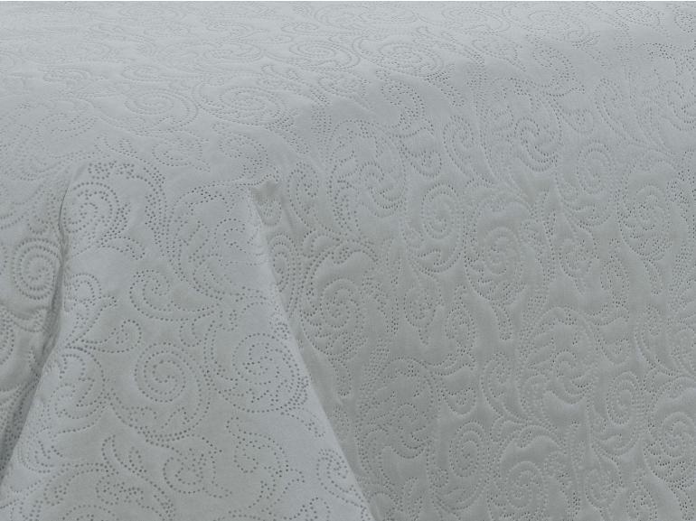 Kit: 1 Cobre-leito King Bouti de Microfibra Ultrasonic + 2 Porta-travesseiros - Tiziano Prata - Dui Design