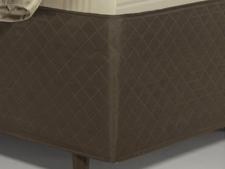 Saia para cama Box Matelassada Fácil de Vestir Solteiro - Tóquio Matelada Café - Dui Design