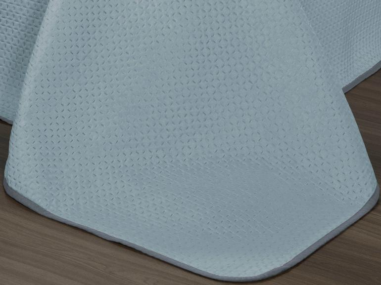 Kit: 1 Cobre-leito King Bouti de Microfibra Ultrasonic + 2 Porta-travesseiros - Toquio Azul - Dui Design