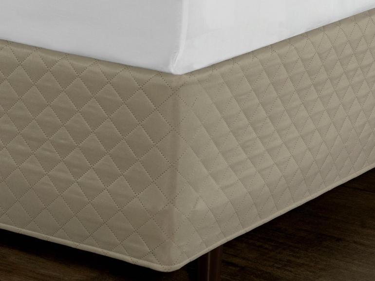 Saia para cama Box Matelassada Fácil de Vestir Casal - Tóquio Matelada Caqui - Dui Design
