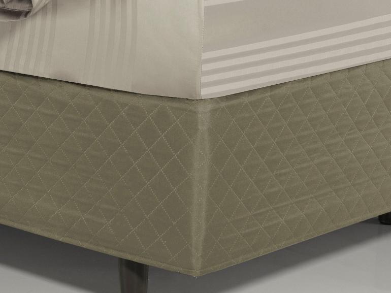 Saia para cama Box Matelassada Fácil de Vestir Solteiro - Tóquio Matelada Caqui - Dui Design