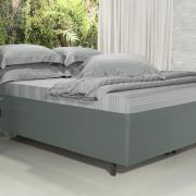 Saia para cama Box Matelassada Fácil de Vestir Solteiro - Tóquio Matelada Cinza - Dui Design