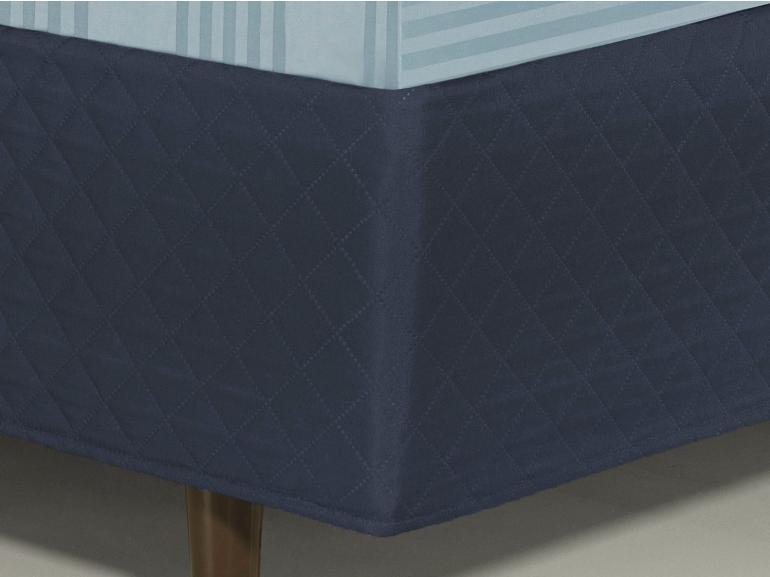 Saia para cama Box Matelassada Fácil de Vestir Solteiro - Tóquio Matelada Indigo - Dui Design