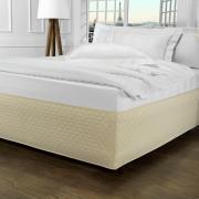 Saia para cama Box Matelassada Fácil de Vestir Solteiro - Tóquio Matelada Marfim - Dui Design