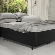 Saia para cama Box Matelassada Fácil de Vestir Casal - Tóquio Matelada Preto - Dui Design