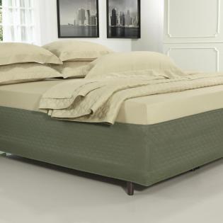 ef0b6ab025 Saia para cama Box Matelassada Fácil de Vestir King - Tóquio Matelada Taupe  Escuro - Dui Design