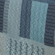 Kit: 1 Cobre-leito King Bouti de Microfibra Ultrasonic Estampada + 2 Porta-travesseiros - Torino Azul - Dui Design