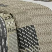 Kit: 1 Cobre-leito King Bouti de Microfibra Ultrasonic Estampada + 2 Porta-travesseiros - Torino Bege - Dui Design