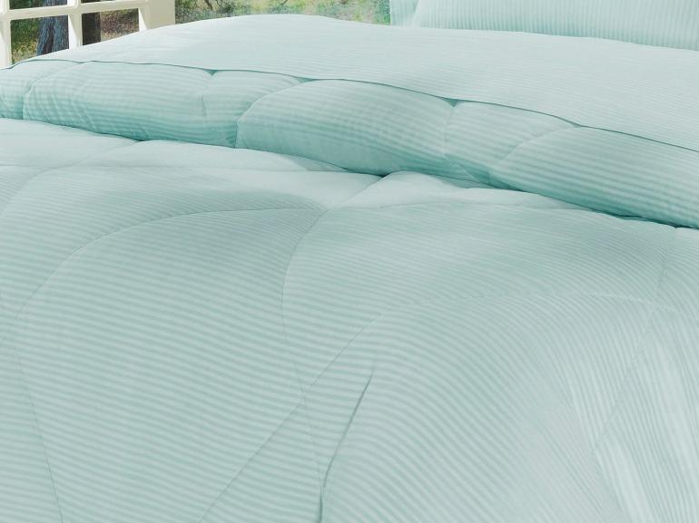 Edredom King Cetim 300 fios - Toronto Azul Claro - Dui Design