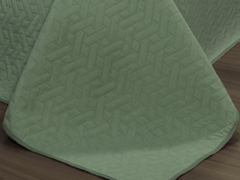 Kit: 1 Cobre-leito King Bouti de Microfibra Ultrasonic + 2 Porta-travesseiros - Treliça Confrei - Dui Design