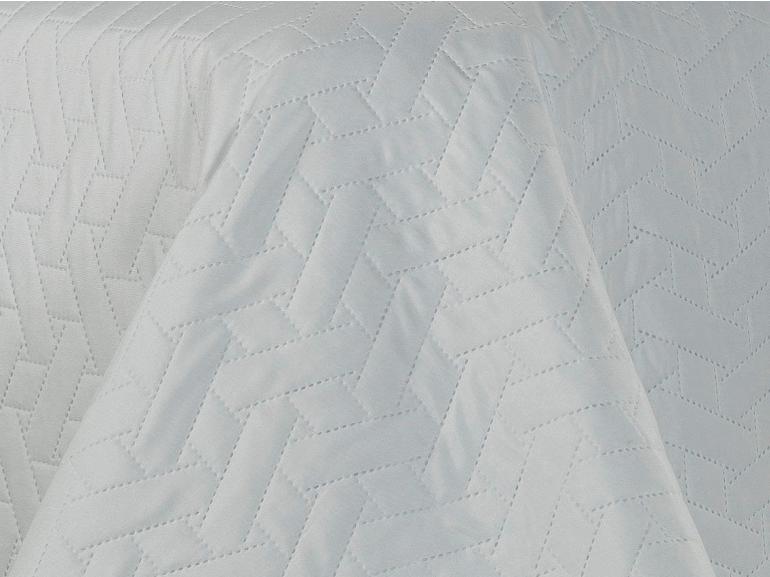Kit: 1 Cobre-leito Casal Bouti de Microfibra Ultrasonic + 2 Porta-travesseiros - Trellis Branco - Dui Design