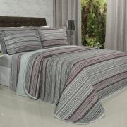 Kit: 1 Cobre-leito King + 2 Porta-travesseiros 150 fios - Trianon Cinza - Dui Design