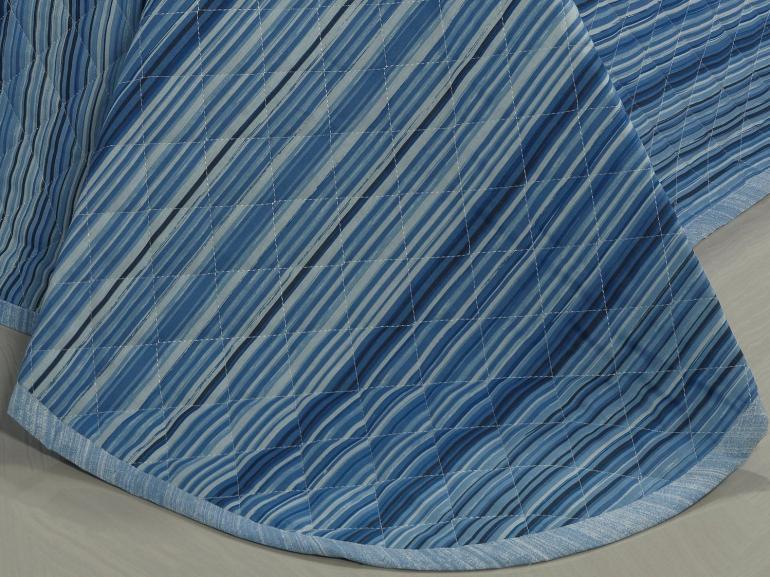 Kit: 1 Cobre-leito King + 2 Porta-travesseiros 150 fios - Trianon Navy - Dui Design