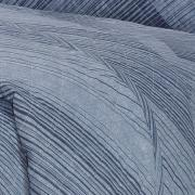 Enxoval Casal com Cobre-leito 7 peças Percal 180 fios - Trinity Indigo - Dui Design