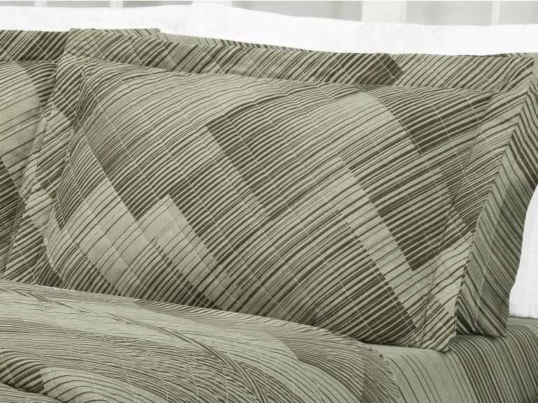 Enxoval Casal com Cobre-leito 7 peças Percal 180 fios - Trinity Taupe - Dui Design