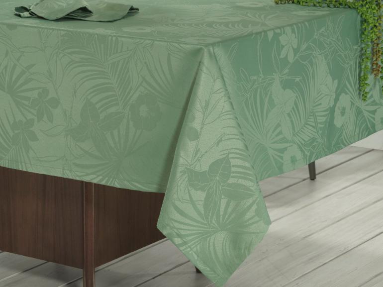 Toalha de Mesa Fácil de Limpar Retangular 6 Lugares 160x220cm - Tropicale Confrei - Dui Design