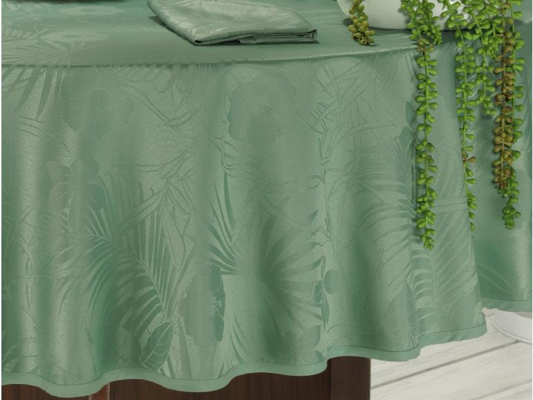 Toalha de Mesa Fácil de Limpar Redonda 220cm - Tropicale Confrei - Dui Design