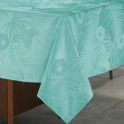 Toalha de Mesa Fácil de Limpar Retangular 8 Lugares 160x270cm - Tropicale Turquesa - Dui Design