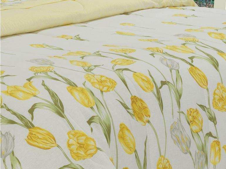 Jogo de Cama Casal 150 fios - Tulipa Amarelo - Dui Design
