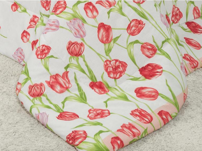 Jogo de Cama Casal 150 fios - Tulipa Rosa - Dui Design