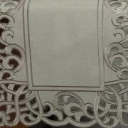 Trilho de Mesa com Bordado Richelieu 45x170cm Avulso - Valência Bege - Dui Design