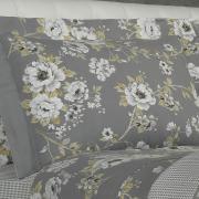 Jogo de Cama Queen Percal 200 fios - Valentina Cinza - Dui Design