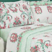Kit: 1 Cobre-leito King + 2 Porta-travesseiros 150 fios - Valentine Rosa - Dui Design