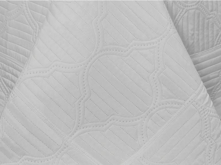 Kit: 1 Cobre-leito Casal Bouti de Microfibra Ultrasonic + 2 Porta-travesseiros - Venetia Branco - Dui Design