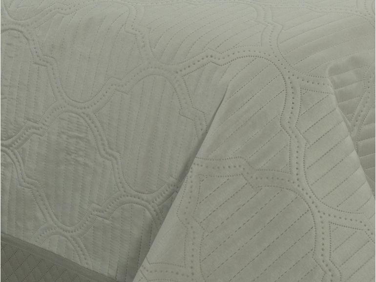 Kit: 1 Cobre-leito Casal Bouti de Microfibra Ultrasonic + 2 Porta-travesseiros - Venetia Stone - Dui Design