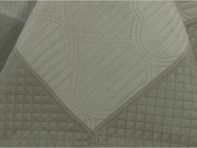 Kit: 1 Cobre-leito Queen Bouti de Microfibra Ultrasonic + 2 Porta-travesseiros - Venetia Stone - Dui Design