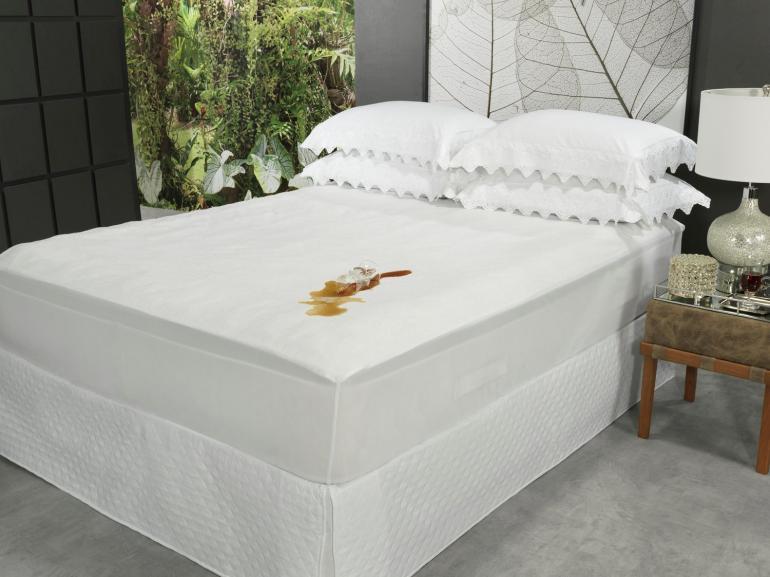 Protetor de Colchão Casal Felpudo Atoalhado Impermeável - Venetto - Dui Design