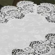 Jogo Americano 4 Lugares (4 peças) com Bordado Guipir Fácil de Limpar 35x50cm - Veneza Branco - Dui Design