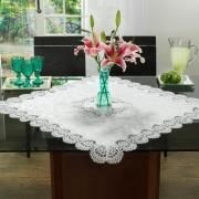 Centro de Mesa com Bordado Guipir Fácil de Limpar 85x85cm Avulso - Veneza Branco - Dui Design